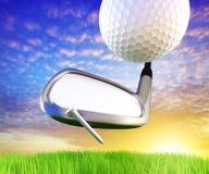 Golfbegrepp royaltyfri illustrationer