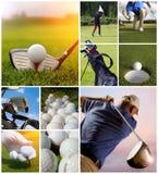 Golfbegrepp royaltyfria foton