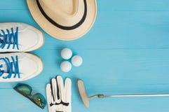 Golfbegrepp: lekmanna- lägenhet arkivfoton