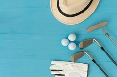 Golfbegrepp: lekmanna- lägenhet arkivbild