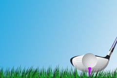 Golfbestuurder t-weg stock illustratie
