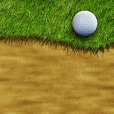 Golfboll på fält Royaltyfri Foto