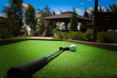 Golfboll på gräset Royaltyfri Bild