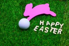Golfboll på påskferie Arkivbilder