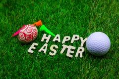 Golfboll på påskferie Arkivfoton