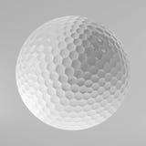 Golfboll som isoleras på vit, tolkning 3D Royaltyfria Foton