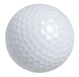 Golfboll som isoleras på white med clippingbanan Arkivbild