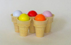 Golfbollar många anstrykningar Fotografering för Bildbyråer