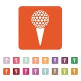 Golfbollsymbolen modigt model symbol för överdängare 3d plant Stock Illustrationer