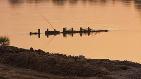 Golfbreker Chao Phraya River Thailand Royalty-vrije Stock Foto