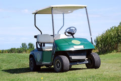 Golfbuggy Stockbild