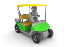 Golfcar driver - Sports Royalty Free Stock Images