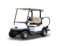 Golfcart do carrinho de golfe isolado no fundo branco fotografia de stock royalty free