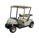 Golfcart do carrinho de golfe no branco Fotografia de Stock Royalty Free