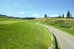 Golfcart Pfad stockbilder