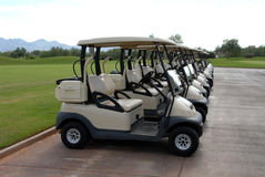 Golfcarts Royalty Free Stock Images