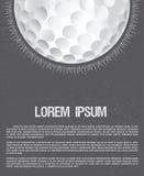 Golfclub- oder Golfplatzschmutzflieger-Designschablone Stockfotos