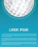 Golfclub- oder Golfplatzschmutzflieger-Designschablone Lizenzfreies Stockfoto