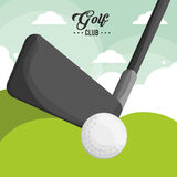 Golfclubballplakat vektor abbildung