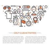 Golfclubbanner of Kopbalmalplaatje stock illustratie