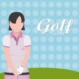 Golfclubconcept royalty-vrije illustratie
