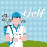 Golfclubconcept stock illustratie