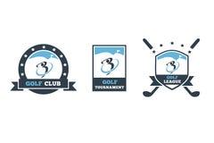 Golfclubembleem 3 reeks royalty-vrije illustratie