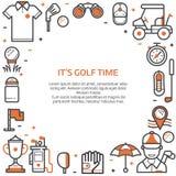 Golfclubkaart of Uitnodigingsmalplaatje stock illustratie