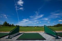 Golfclubkurs Activefreizeit stockfotos