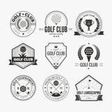 Golfclublogo Stockfoto