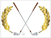 Golfclubs stock illustratie