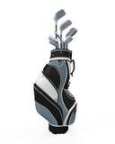 Golfclubs en Zak royalty-vrije illustratie
