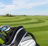 Golfclubs in golfbag Royalty-vrije Stock Fotografie