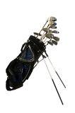 Golfclubs op Wit Stock Foto