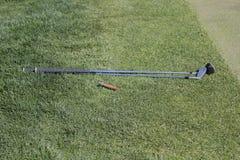 Golfclubs und Zigarre Stockfoto