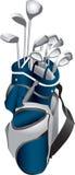 Golfclubs in Zak stock illustratie