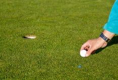 Golfcourse στα βουνά Στοκ Εικόνα