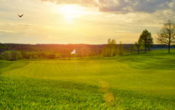 Golfcourse Στοκ φωτογραφία με δικαίωμα ελεύθερης χρήσης