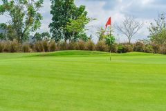 Free Golfcourse, Beautiful Landscape Of A Golf Court With Trees And Green Grass Royalty Free Stock Image - 154070896