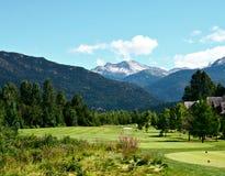 Golfcourse hermoso Foto de archivo libre de regalías