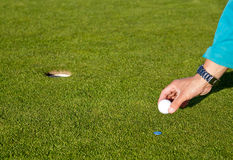 Golfcourse in mountains Stock Image