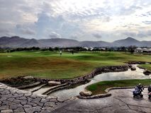 Golfcourse Tailândia Hua Hin fotografia de stock