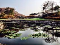 Golfcourse Thailand Hua Hin. Black Mountain Golf Course hole no 2 royalty free stock photography