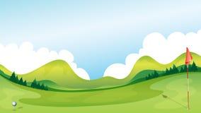 Golfcursus stock illustratie