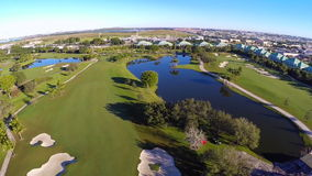 Golfcursus stock footage