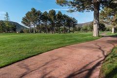 Golfcursus bij Dorp van Eiken Kreek, Arizona Royalty-vrije Stock Afbeelding