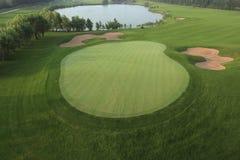 Golfcursus, het gras, ontwerp Stock Afbeelding