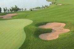 Golfcursus, het gras, ontwerp Royalty-vrije Stock Afbeelding