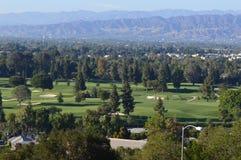Golfcursus in Los Engelen Stock Foto's