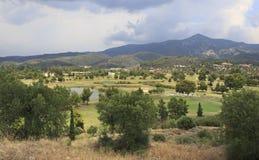 Golfcursus van Porto Carras Stock Afbeeldingen